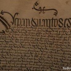 Manuscritos antiguos: VENTA DE CASAS * BURGOS 1490 * PERGAMINO * 8 PÁGINAS. Lote 211725330