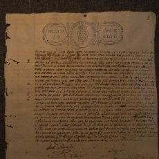 Manuscritos antiguos: ACTA DE LIBERTAD DE ESCLAVA + VENTA DE MULATO* 1842 * SANTIAGO DE CUBA. Lote 211727210