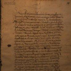 Manuscritos antiguos: CARTA DE CENSO Y NUEVA IMPOSICIÓN Y FUNDACIONES * MADRID 1614 * 15 PÁGINAS. Lote 211727766