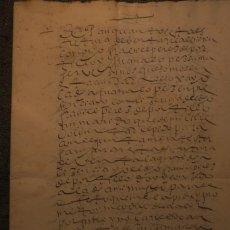 Manuscritos antiguos: VENTA DE 4 ARANZADAS DE VIÑA DE SECANO * LOJA (GR) 1610 * 8 PÁGINAS. Lote 211728004