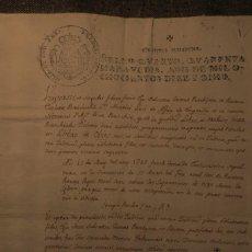 Manuscritos antiguos: ALFÀS D'EMPORDÀ * 1818 * ACTA DE ENTIERRO DE UN ASESINADO. Lote 211728911