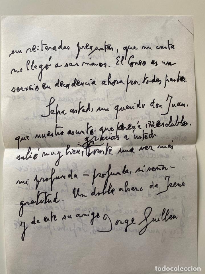 Manuscritos antiguos: lote de cartas , etc . de d. jorge guillen relacionados con malaga , generación del 27 , poesía - Foto 4 - 211747325