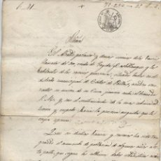 Manoscritti antichi: 1860, CORTES DE PALLAS, VALENCIA, `PIDEN UN CURA PARA LOS BARRIOS ORO, SAGETA Y CASTILLBLANQUE. Lote 211755311