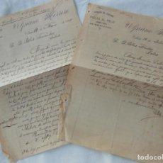 Manuscritos antiguos: VOLPIANO HERRERO, ALMACEN DE CURTIDOS Y PIELES AL PELO, COMPRA Y VENTA DE CEBADA Y PAJA. 1897. Lote 211789405