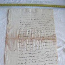 Manuscritos antiguos: JML DOCUMENTO MANUSCRITO A PLUMA EN CUEVAS VERA EN 1890. AL JUZGADO. TEMA ACCIONES MINERAS. ALMERIA. Lote 211910935