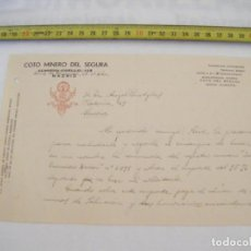 Manuscritos antiguos: JML DOCUMENTO MANUSCRITO COTO MINERO DEL SEGURA MINAS ALBACETE MURCIA REGISTRO MINA SAN JAVIER. Lote 211966035