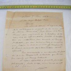 Manuscritos antiguos: JML CARTA TEMA MINERO MINAS LA UNIÓN CARTAGENA MURCIA 1943.. Lote 211971300
