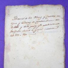 Manuscritos antiguos: HISTORIA DE LOS CASTILLOS DE CATALUÑA Y DE LOS PUNTOS FORTIFICADOS EN LA PRIMERA GUERRA CARLISTA. Lote 211980187