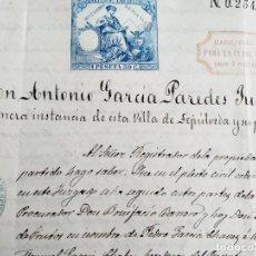 Manuscritos antiguos: MANUSCRITO BIENES PATRONATO CATALINA BRAVO EN BARBOLLA ( SEGOVIA ) E. SAENZ CENZANO 1882. Lote 212040026