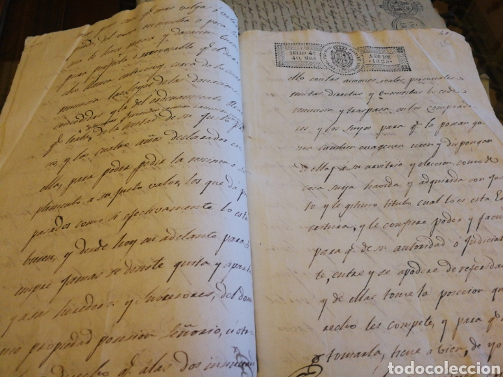 Manuscritos antiguos: Escrituras de compra de finca en Badajoz 1825. 10 pg. - Foto 2 - 212294198