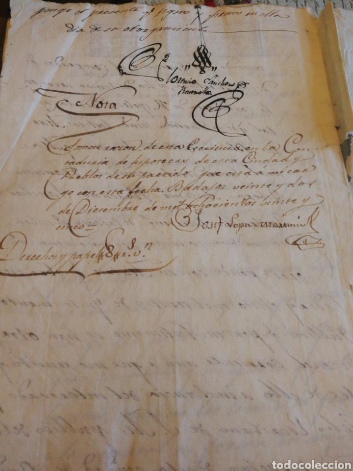 Manuscritos antiguos: Escrituras de compra de finca en Badajoz 1825. 10 pg. - Foto 3 - 212294198