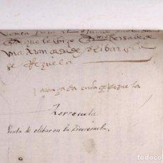 Manuscritos antiguos: ECIJA 1578. VENTA DE OLIVAR EN LA SIERREZUELA. Lote 212597478