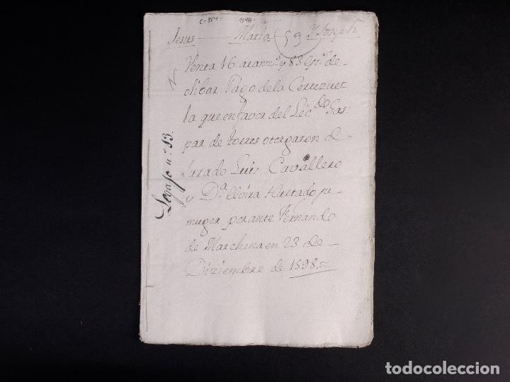 Manuscritos antiguos: ECIJA 1598. VENTA DE OLIVARES - Foto 2 - 212598008
