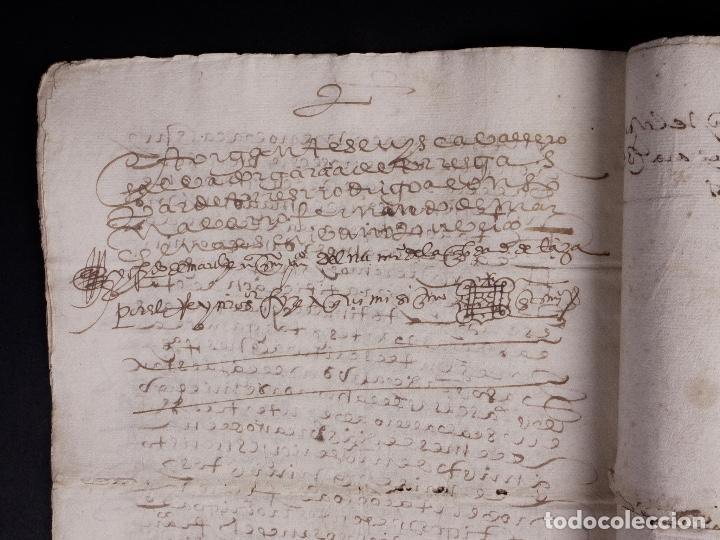 Manuscritos antiguos: ECIJA 1598. VENTA DE OLIVARES - Foto 9 - 212598008
