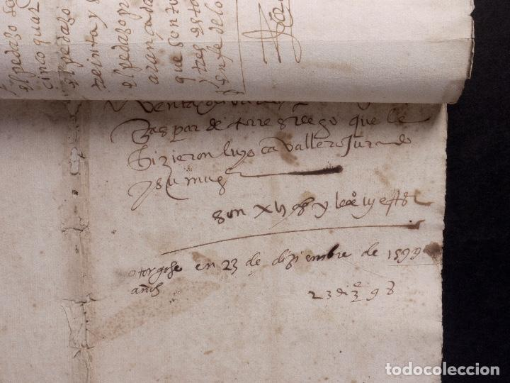 Manuscritos antiguos: ECIJA 1598. VENTA DE OLIVARES - Foto 12 - 212598008
