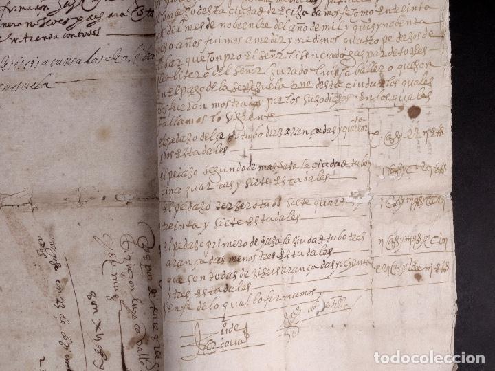 Manuscritos antiguos: ECIJA 1598. VENTA DE OLIVARES - Foto 13 - 212598008