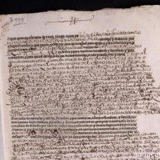 Manuscritos antiguos: FUENTE GUINALDO 1634. VENTA DE DOS TIERRAS. Lote 212599541
