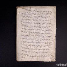 Manuscritos antiguos: VILLAFRECHOS 1571, VALLADOLID. VENTA DE UNA TIERRA. Lote 212622666