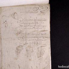 Manuscritos antiguos: VILLAFRECHOS 1596, VALLADOLID. TESTAMENTO DE DÑA BERNA DE OLMOS. Lote 212623120