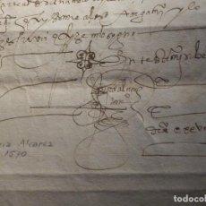 Manuscritos antiguos: LEGAJO AÑO 1570 CON SIGNO NOTARIAL DEL ESCRIBA GARCÍA ALVAREZ. Lote 212906955