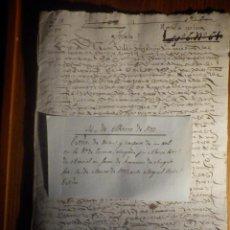 Manuscrits anciens: LEGAJO AÑO 1573 - EL ORTAL DE CERVERA ? ALONSO PEREZ DE ARACIEL A FAVOR DE FCO DE ANGULO. Lote 212909740
