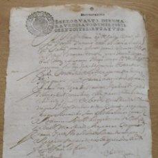 Manuscritos antiguos: SELLO QUARTO. DIEZ MARAVEDÍS. 1661. MANUSCRITO A PLUMA. 31X22 CM. BUEN ESTADO CON SIGNOS EDAD.. Lote 213003316