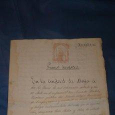 Manuscritos antiguos: DOCUMENTO DEL AÑO 1875 - DOCUMENTO NOTARIAL. Lote 213192380