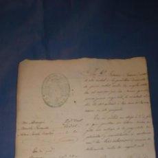 Manuscritos antiguos: DOCUMENTO ORIGINAL JUDICIAL AÑO 1.874. Lote 213358128