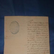 Manuscritos antiguos: DOCUMENTO ORIGINAL JUDICIAL AÑO 1.876. Lote 213360016