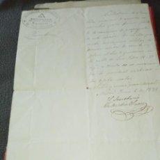 Manuscritos antiguos: CARTA MANUSCRITA ASOCIACIÓN INTERNACIONAL DE TRABAJADORES 1 REUNIÓN DEL COMITÉ VALENTÍN SÁENZ 1871. Lote 213394507