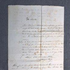Manuscritos antiguos: ALHAMA DE ALMERIA. CERTIFICADO DE POBREZA (A.1893) SIGLO XIX, FIRMAS, SELLOS Y RÚBRICAS. Lote 213583036