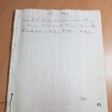 Manuscritos antiguos: DOCUMENTO PARTICION TESTAMENTO HERENCIA LUCIA DOROTEA DIAZ BELMONTE VELEZ BLANCO ALMERIA 1844 S XIX. Lote 214622326