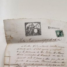 Manuscrits anciens: MANUSCRITO JUEZ MUNICIPAL DE ARBO PONTEVEDRA GALICIA 1879. Lote 215019695