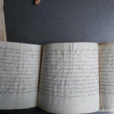 Manuscritos antiguos: PERGAMINO AÑO 1315 HUESCA - DONACIÓN BOLEA - LARRÉS - BINIES MEDIDAS 66 X 21 CENTÍMETROS LUJO LETRA. Lote 215164730