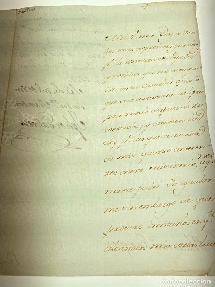 MANUSCRITO CARTA DE JOSE DE GALVEZ Y GALLARDO MARQUÉS DE SONORA DE 1779 - ANTIGUO - ORIGINAL - D003 (Coleccionismo - Documentos - Manuscritos)