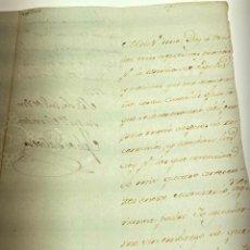 Manuscritos antiguos: MANUSCRITO CARTA DE JOSE DE GALVEZ Y GALLARDO MARQUÉS DE SONORA DE 1779 - ANTIGUO - ORIGINAL - D003. Lote 215244853