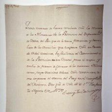 Manuscritos antiguos: MANUSCRITO CARTA DEL MARQUÉS GONZÁLEZ DE CASTEJÓN A JUAN A. HENRIQUEZ - 1779 - ORIGINAL - D005. Lote 215278362
