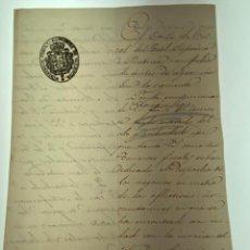 Manuscritos antiguos: MANUSCRITO CARTA MINISTERIO FISCAL VALENCIA - CÓLERA MORBO ASIÁTICO - 1854 - ORIGINAL - D006. Lote 215281628