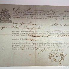 Manuscritos antiguos: DOCUMENTO CONOCIMIENTO DE EMBARQUE - ENVÍO DE UN CAJÓN CON UN ABITO COSIDO... - 1822 - D011. Lote 215301403