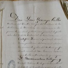 Manuscritos antiguos: ESCRITURA PÚBLICA BUENAVENTURA VILLEGAS Y CASTELLÓ CAPELLADES BARCELONA. 1852. MIGUEL CISTARÉ.. Lote 215531130