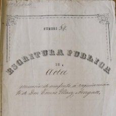 Manuscritos antiguos: ESCRITURA PÚBLICA TOMÁS ILLAS ARAGALL. JUAN SOLER VILARASAU NOTARIO. GRANOLLERS. 1887. 6 PÁGINAS.. Lote 215533757
