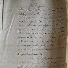 Manuscritos antiguos: AL JUZGADO. RAYMUNDO Y MIGUEL CISTARÉ. JOSÉ CONDEMINAS PROCURADOR. 1868. IGUALADA. MANUEL VELA.. Lote 215542316