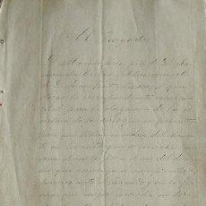 Manuscritos antiguos: AL JUZGADO. MARIANO SERRA. RAYMUNDA CISTARÉ RIBERA. JUAN FONT PIZARRO. ESCRITURA DE PODERES. 1887.. Lote 215546677