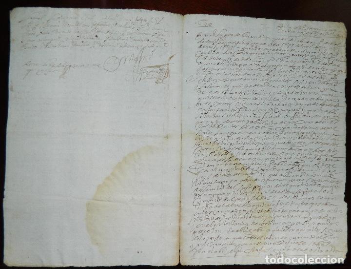 Manuscritos antiguos: 1659 FELIPE IV , INERESANTE DOCUMENTO ORIGINAL DE EPOCA - Foto 2 - 215717055