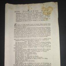 Manuscritos antiguos: ORDEN DE BÚSQUEDA Y CAPTURA CONSPIRACIÓN REY FERNANDO VII GUILLERMO NASH SIGLO XIX 1817 VASCONGADAS. Lote 215729087