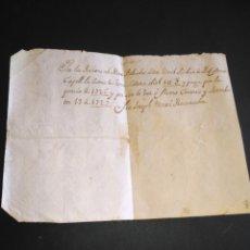 Manuscritos antiguos: RECIBO SIGLO XVIII MANUSCRITO AÑO 1726 /1727 CERVERA EN CATALÁN. Lote 215783008