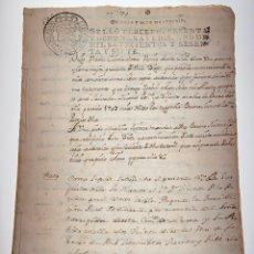 Manuscritos antiguos: DOCUMENTO MANUSCRITO COPIA DE TESTAMENTO DECRETO DE NOVA PLANTA. 1767 - ANTIGUO - ORIGINAL - D024. Lote 215844932