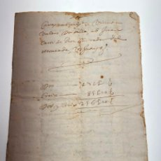 Manuscritos antiguos: DOCUMENTO CARTA NUPCIAL O COMPROMISO MATRIMONIAL EN LATÍN DE MONCADA - VALENCIA -1699 - D015. Lote 215876520