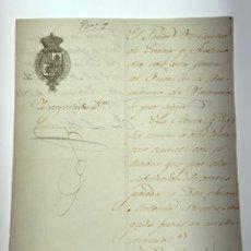 Manuscritos antiguos: DOCUMENTO CARTA CESE DE ABOGADO FISCAL - VALENCIA -1858 - D014. Lote 215876723
