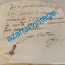 Manuscritos antiguos: SEVILLA, GUERRAS NAPOLEONICAS, RECIBO POR 208 RACIONES DE ACEITE. Lote 216421802